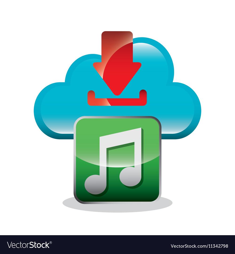 Download digital data icons