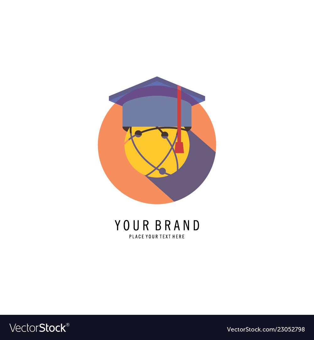 Graduation caps logo