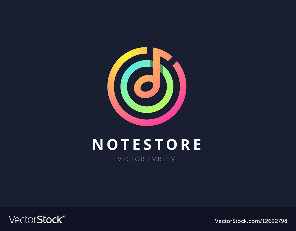 Music note store emblem
