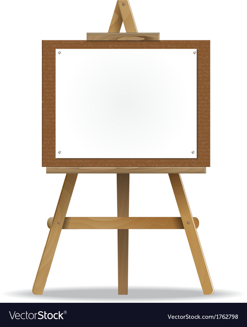 white canvas on an easel royalty free vector image