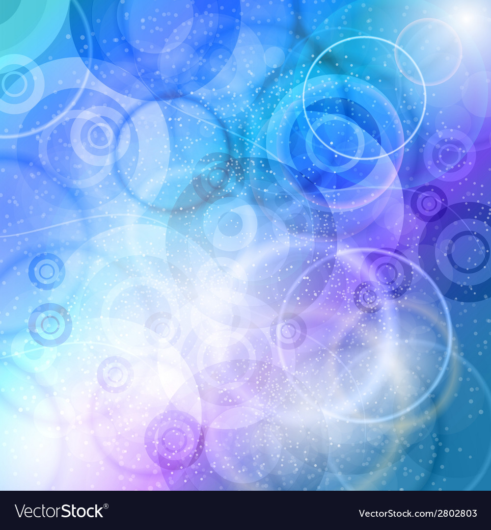 Crazy circles cold vector image