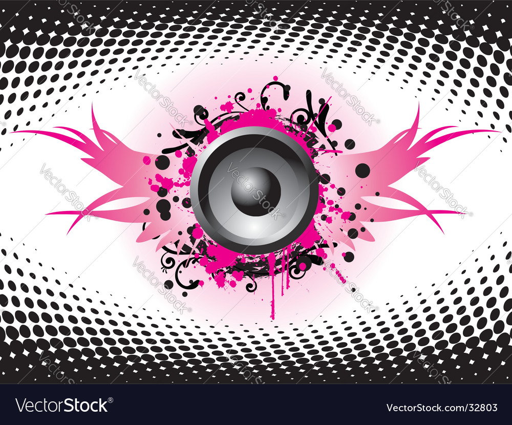 Flying speaker vector image