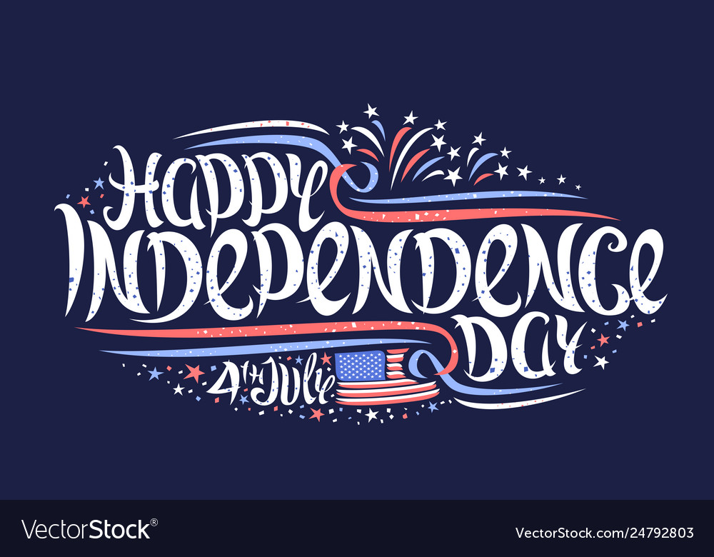 Greeting card for independence day