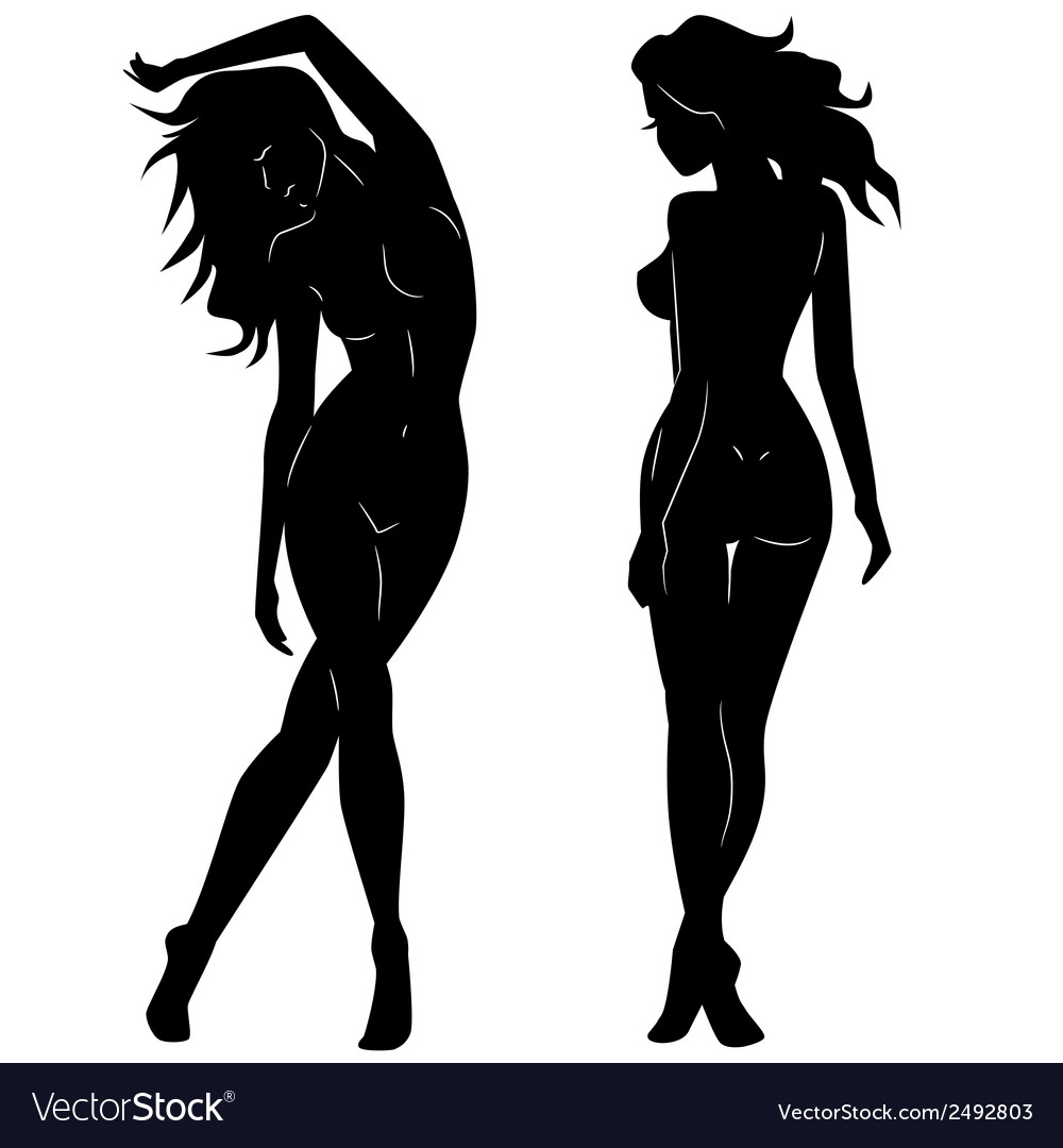 Sexy Woman Silhouettes Royalty Free Vector Image