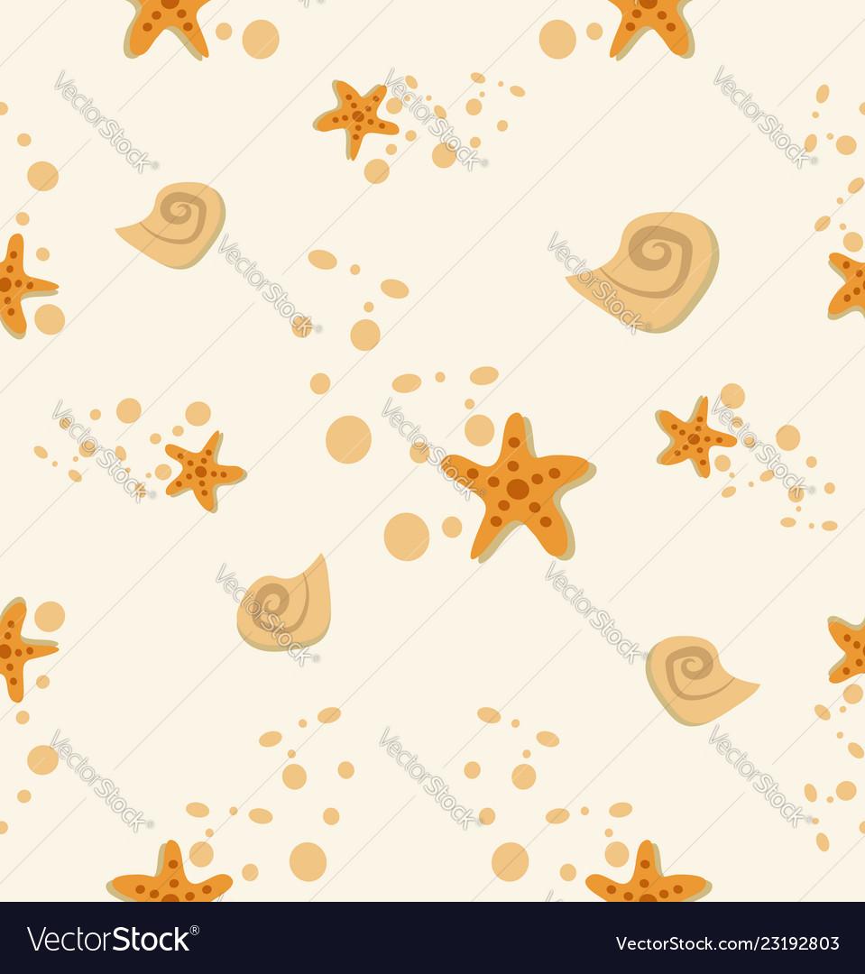 Starfish shell stone pattern