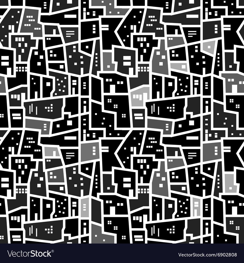 Abstract seamless urban pattern
