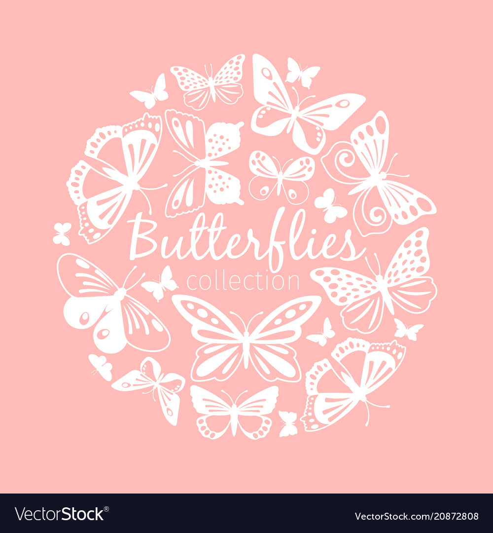 Butterflies circle pattern