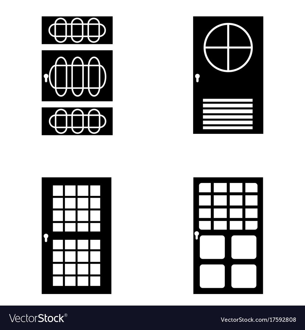 Door icon set