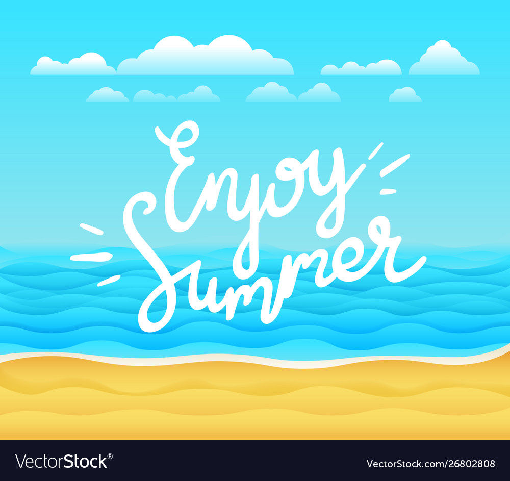Enjoy summer banner tropical background