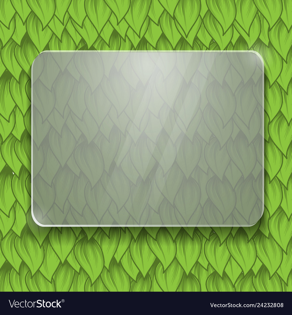 Green leaves glass panel