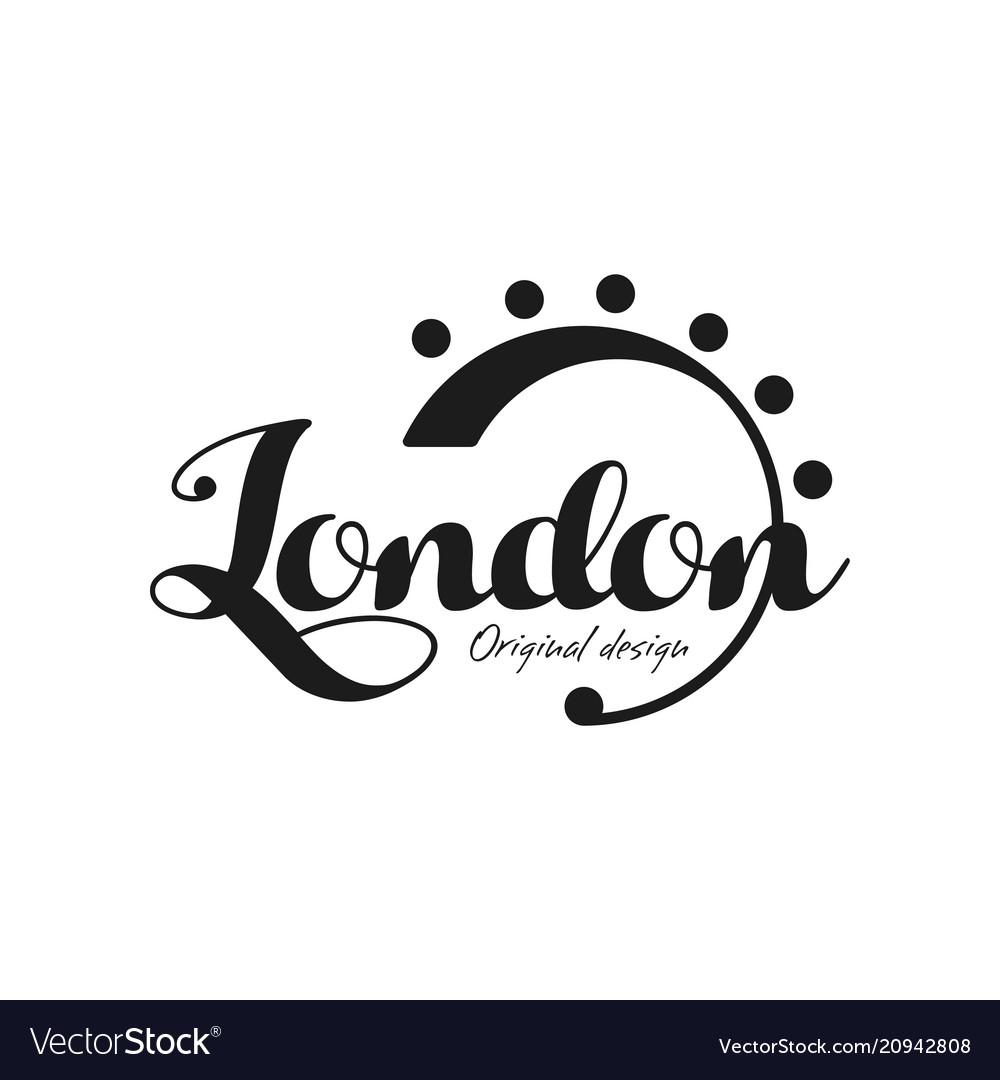 London city name original design black ink hand