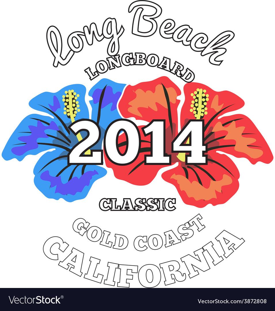 Long Beach surfing artwork