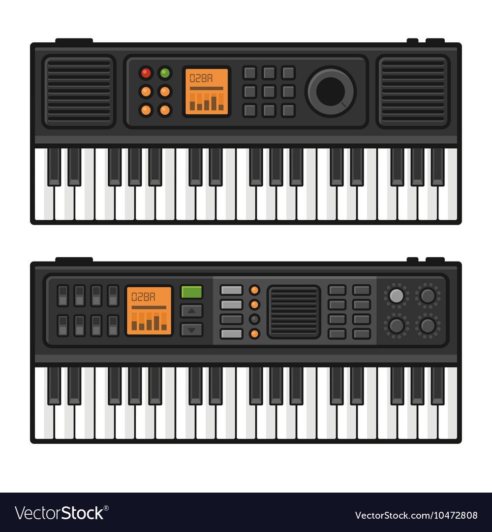 Piano Roll Digital Synthesizer Midi Keyboard Set