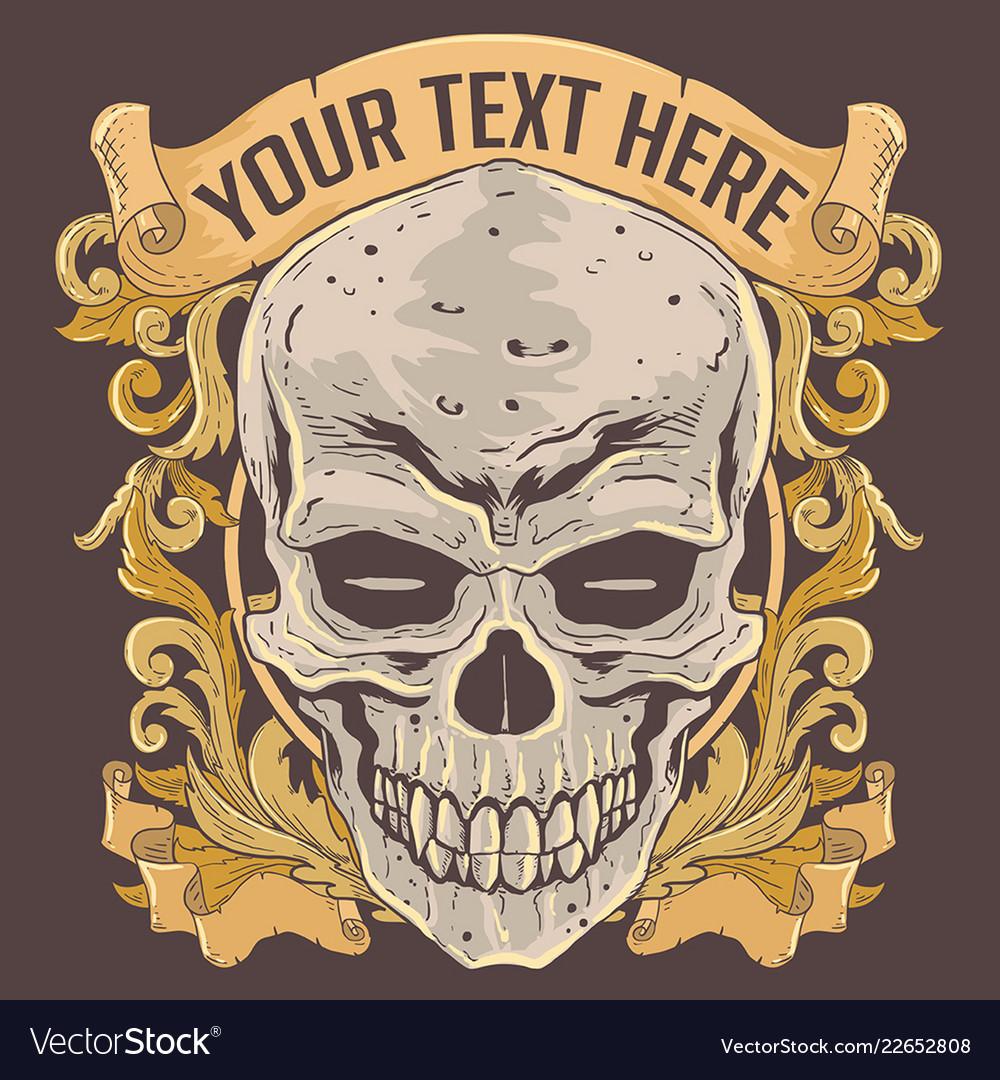 Skull vintage classic