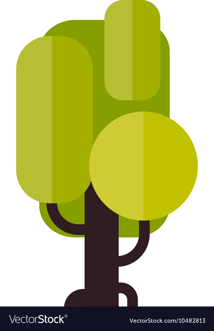 A tree in flat style