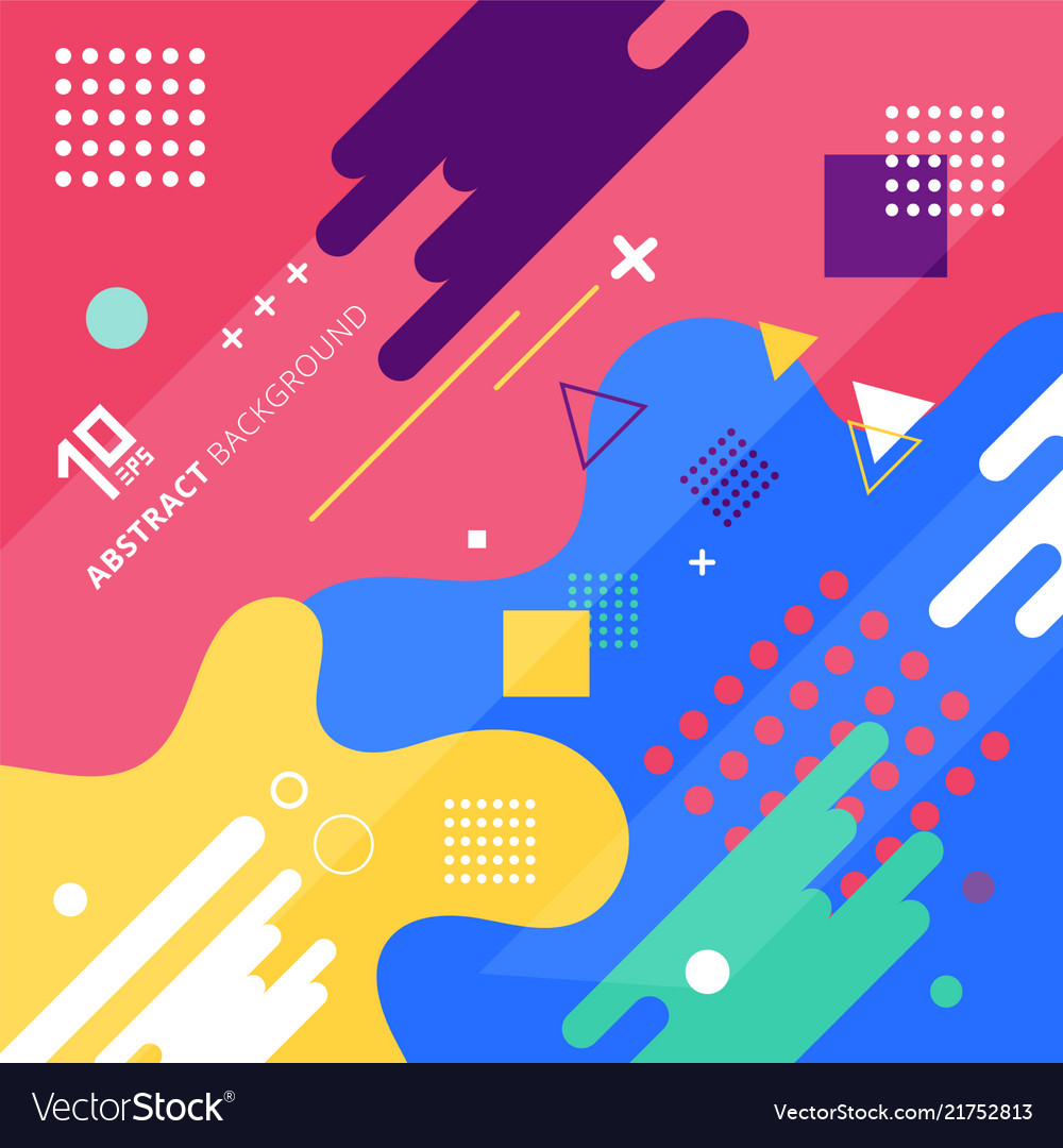 Abstract background with colorful geometric design
