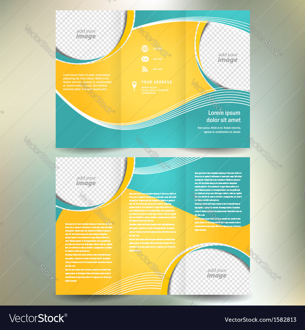 Brochure geometric abstract element color vector image