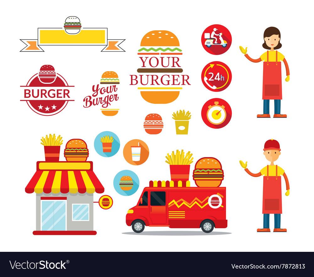 Burger Shop Graphic Elements