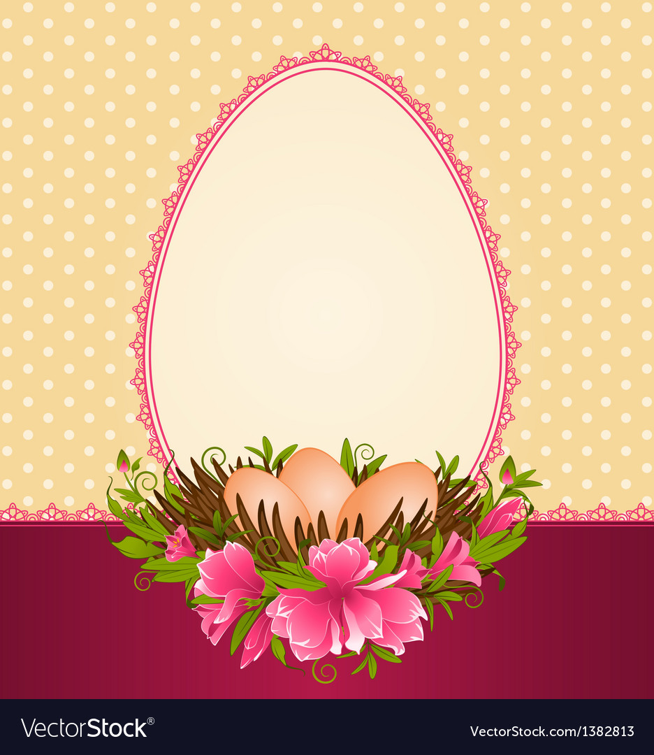Easter border frame Royalty Free Vector Image - VectorStock