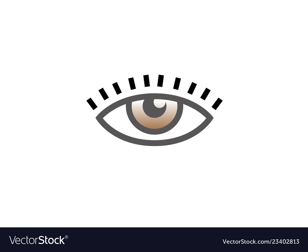 Eye vision with eyelashes icon logo design