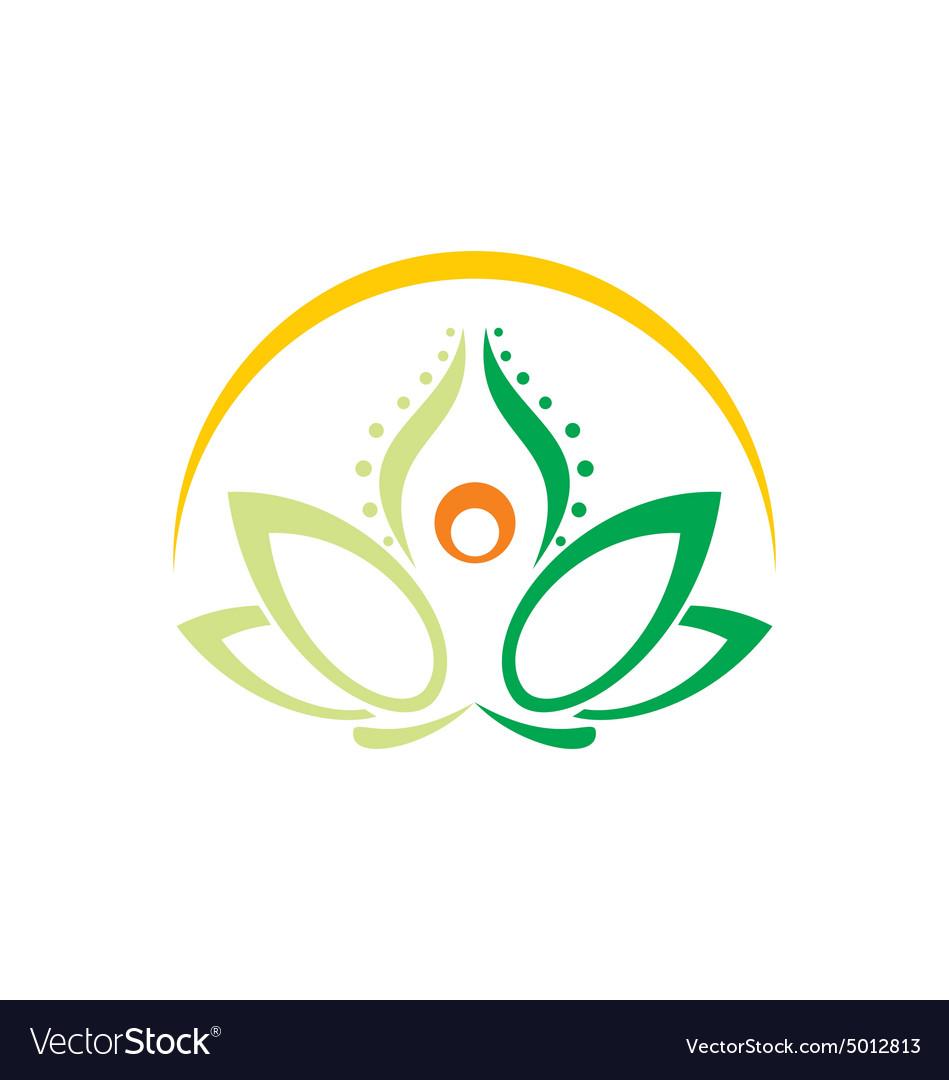 Lotus flower yoga beauty logo royalty free vector image lotus flower yoga beauty logo vector image mightylinksfo