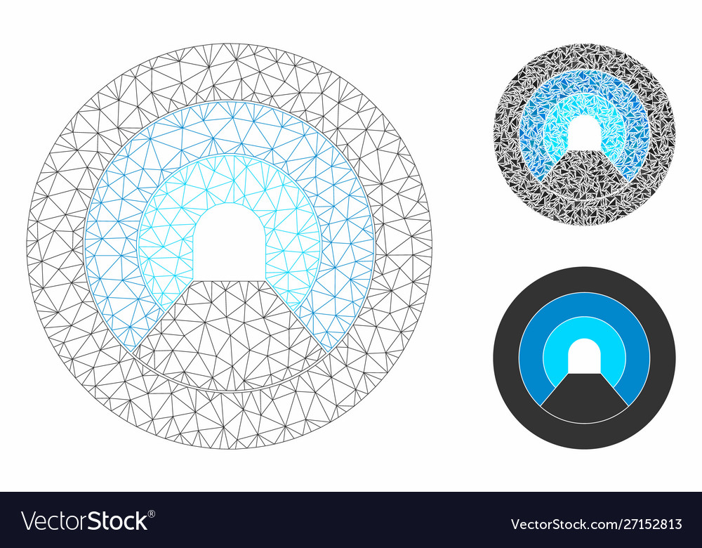 Pipe tunnel mesh network model and triangle