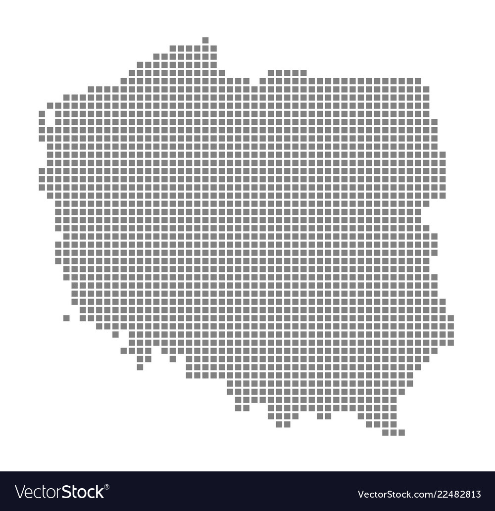 Pixel map of poland dotted map of poland isolated