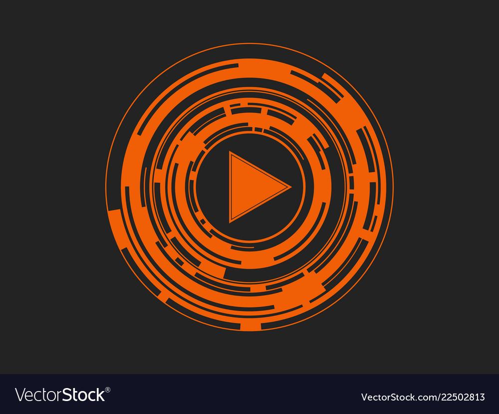Play button logo symbol icon abstract
