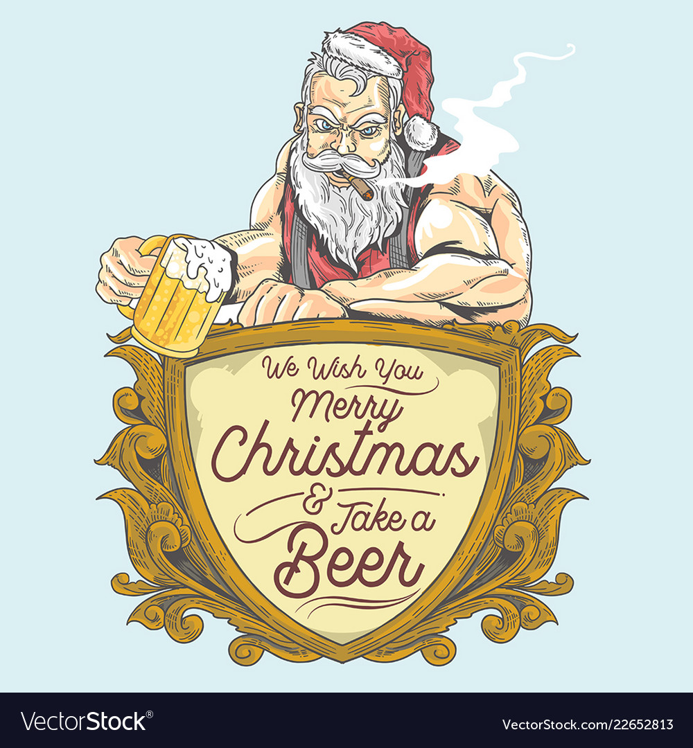 Santa beer party