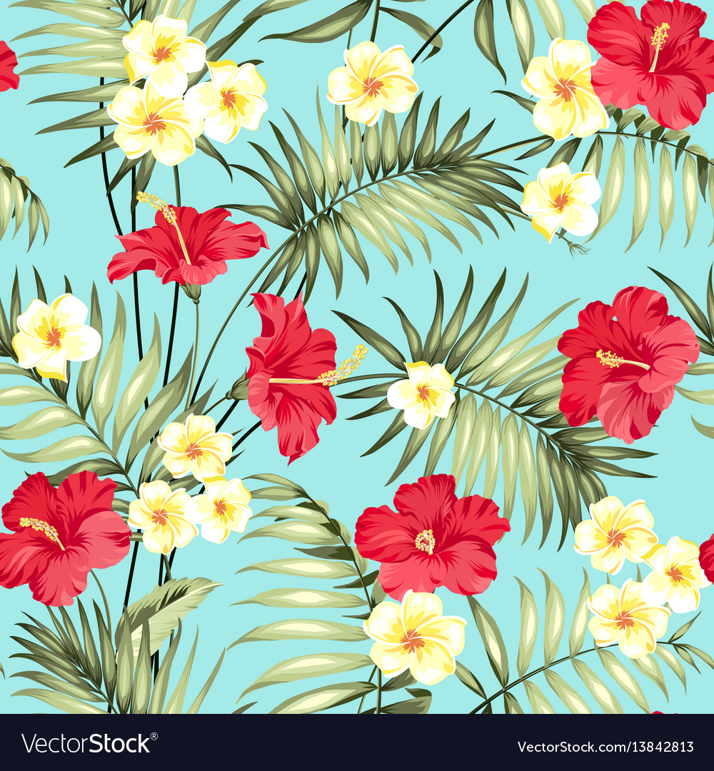 Tropical design for fabric swatch