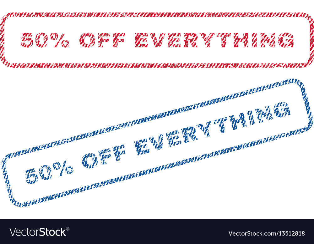50 percent off everything textile stamps