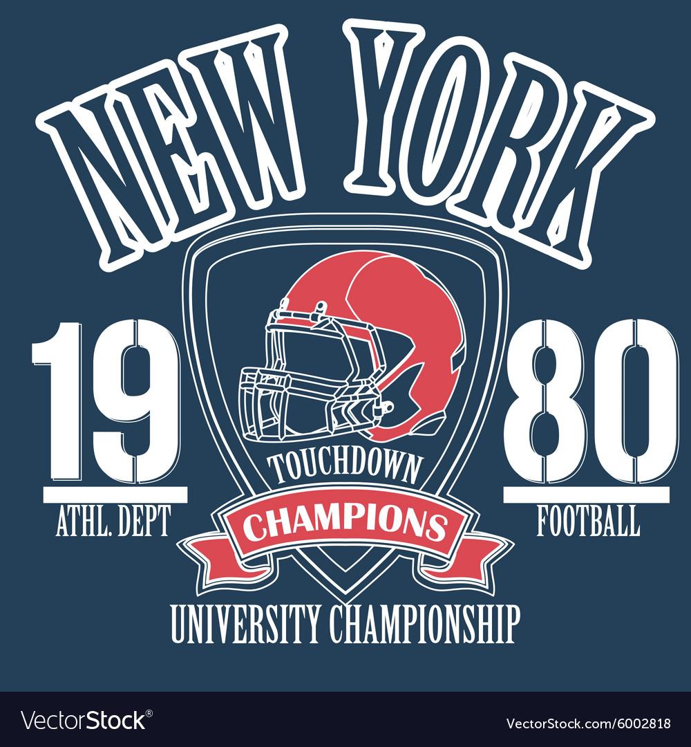 Athletic sport typography Sportswear t-shirt