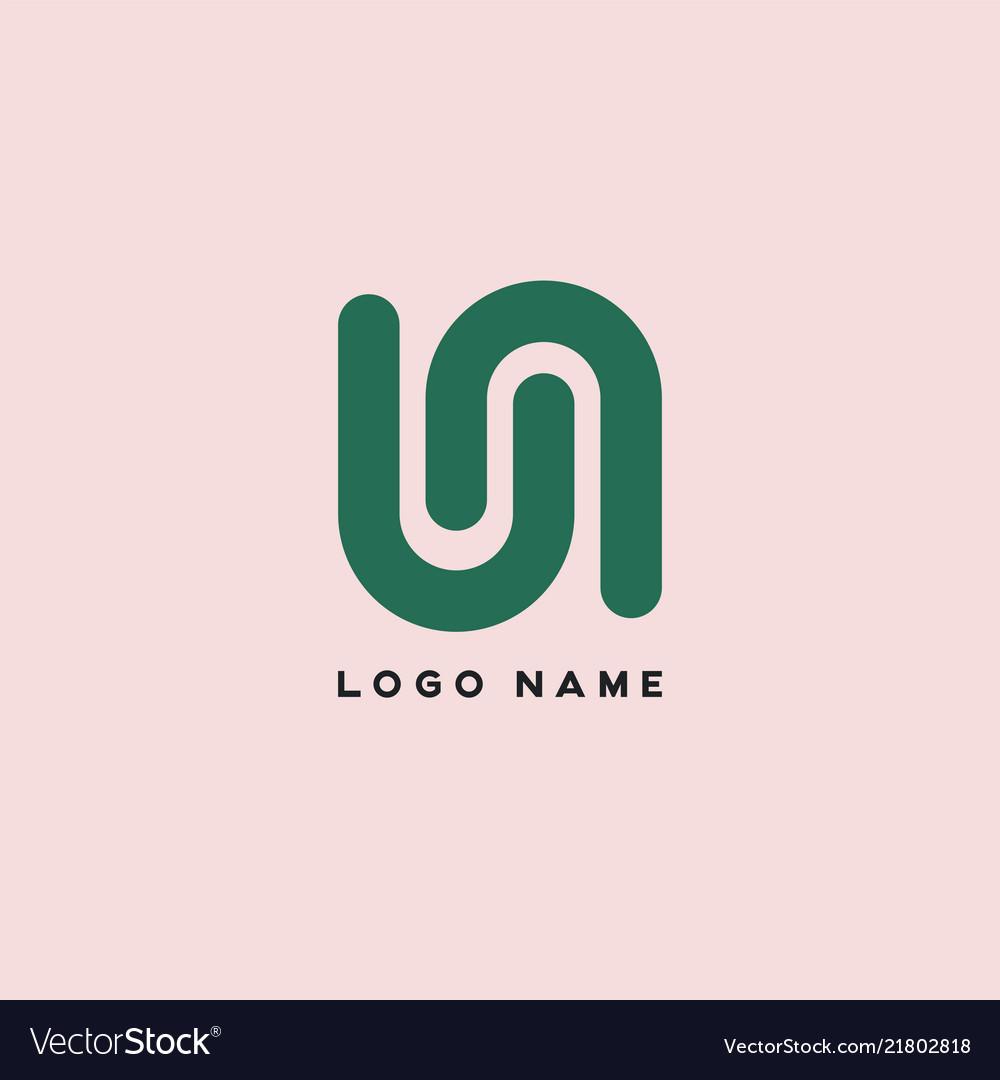 Business letter u logo design