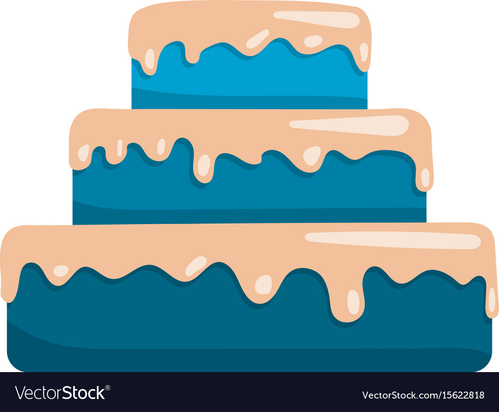 Cake icon flat
