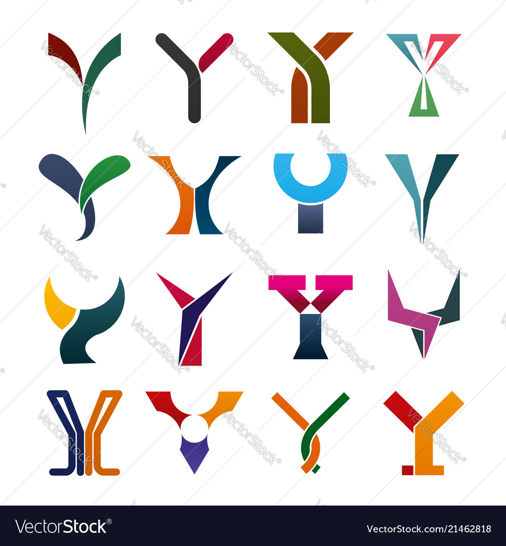 Letter y business icons and symbols