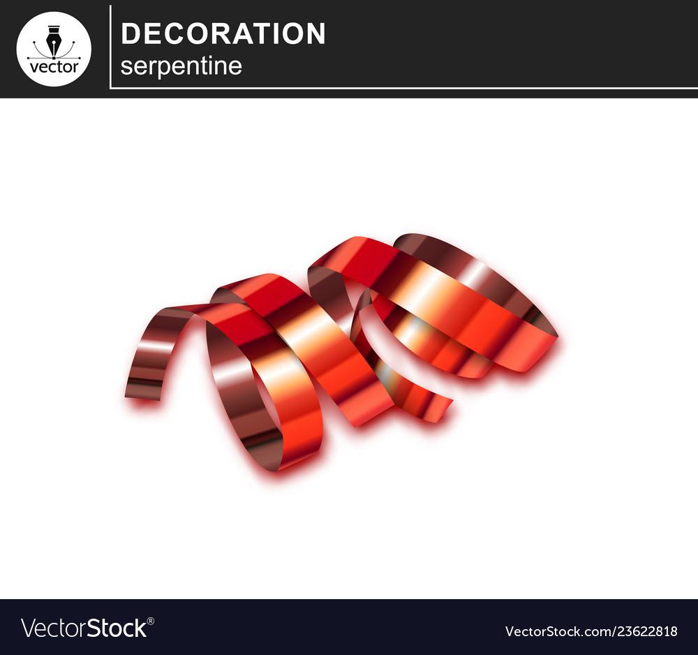 Red shiny serpentine