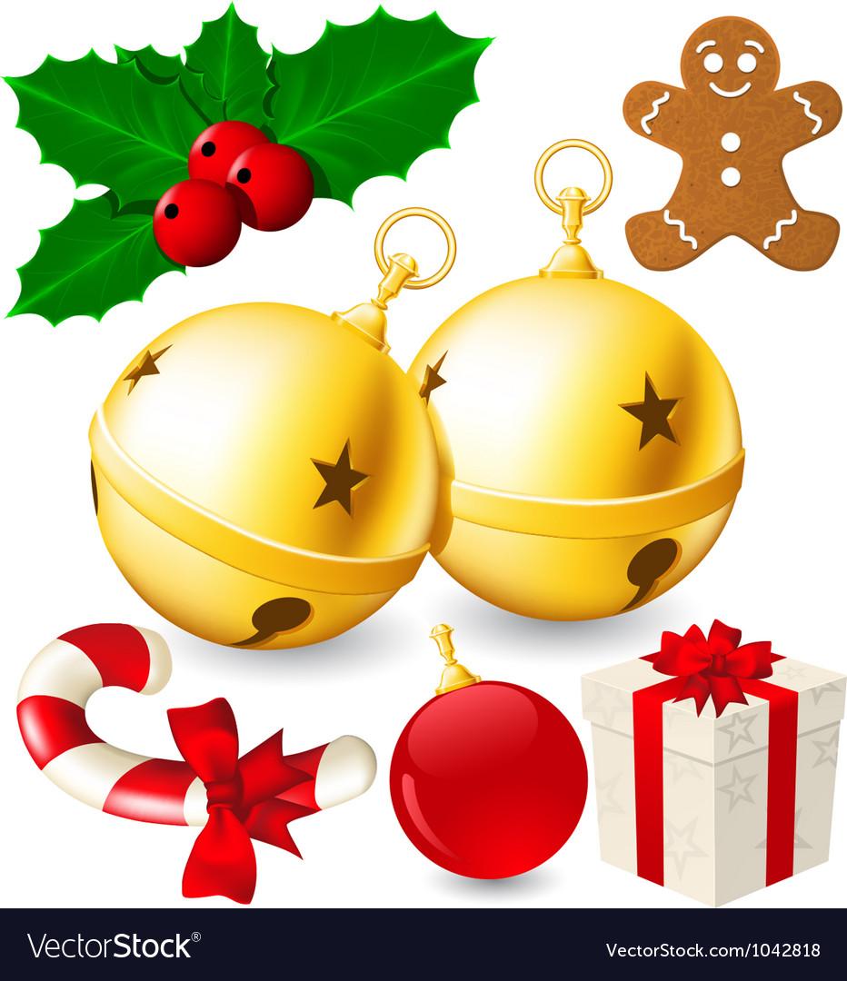 Set christmas decoration bells made