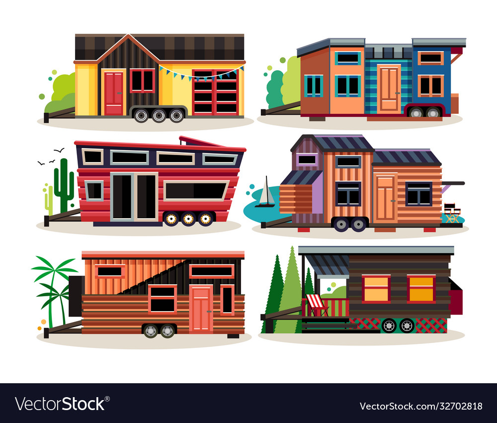 Small tiny houses modern mobile trailers