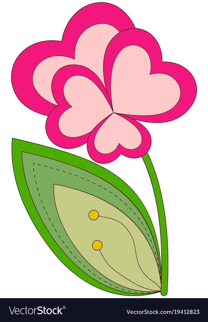 Colorful heart flower plant poster