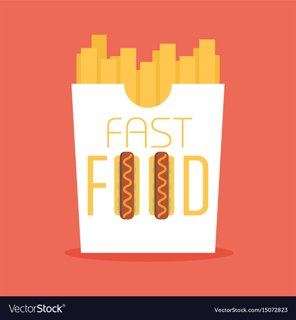 Fast food word sign logo icon design template