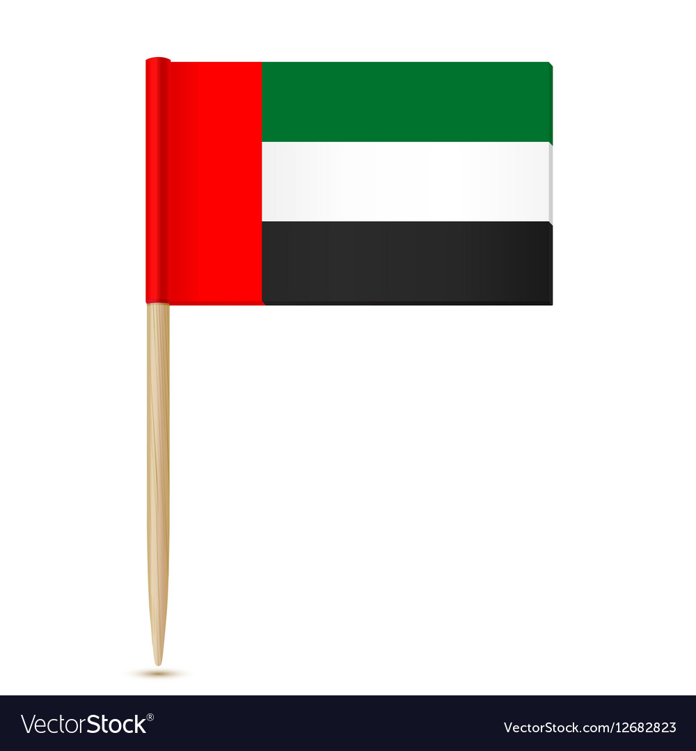 Flag of the United Arab Emirates Flag toothpick vector image