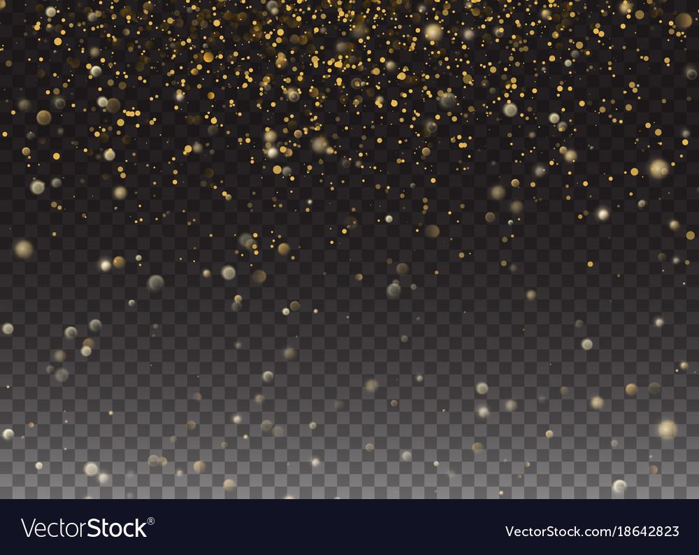 Glitter effect gold glittering space star