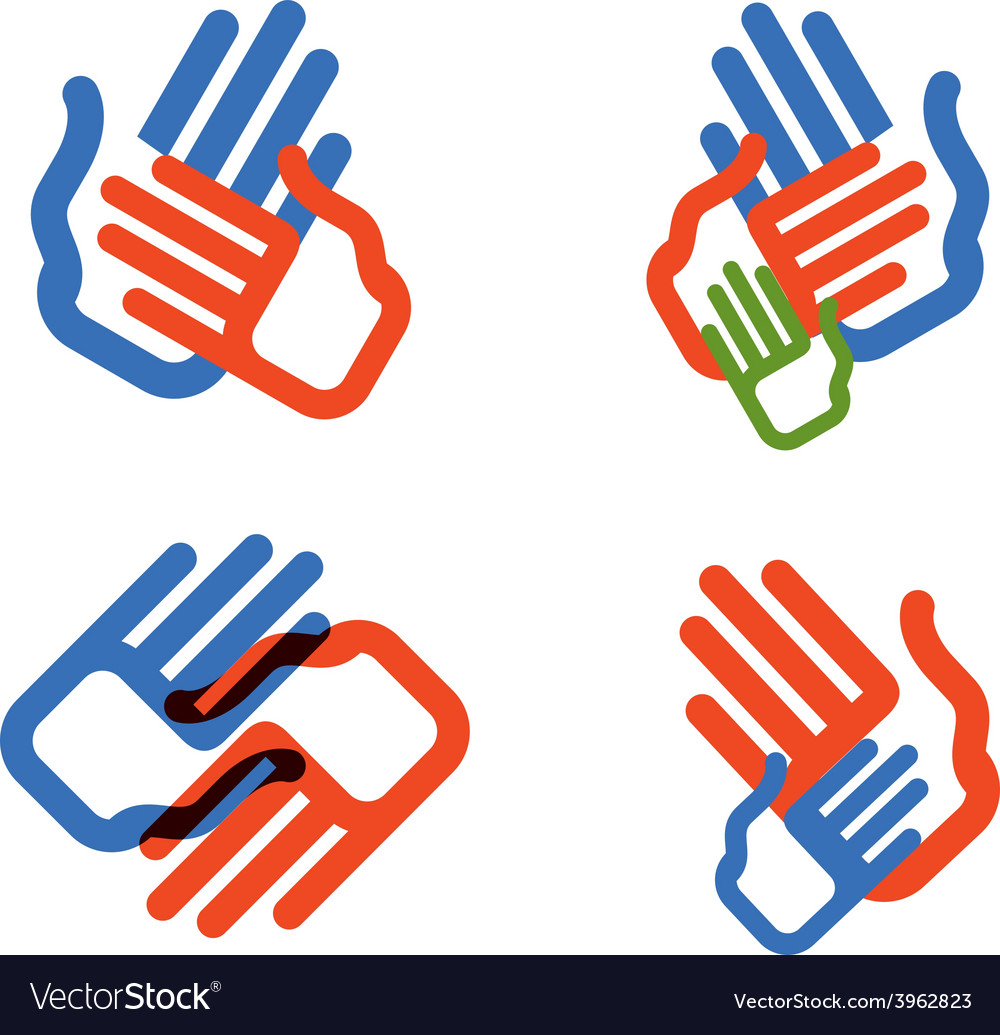 Hands logo design template people family