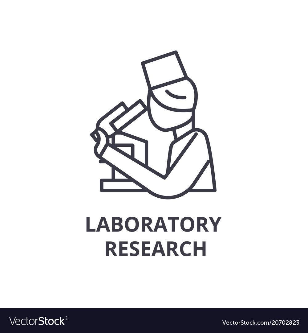 Laboratory research thin line icon sign symbol vector image