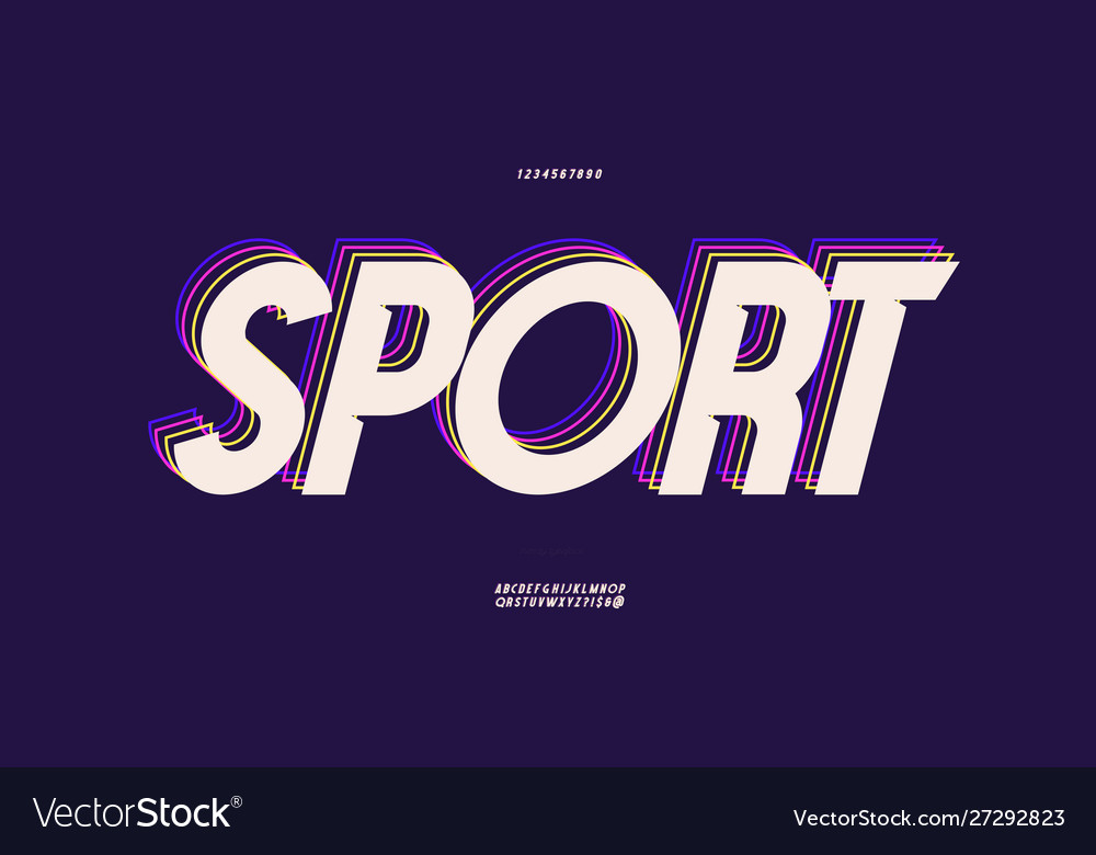 Sport font 3d bold style