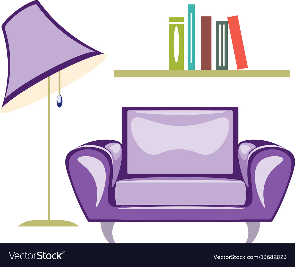 The armchair and floor lamp