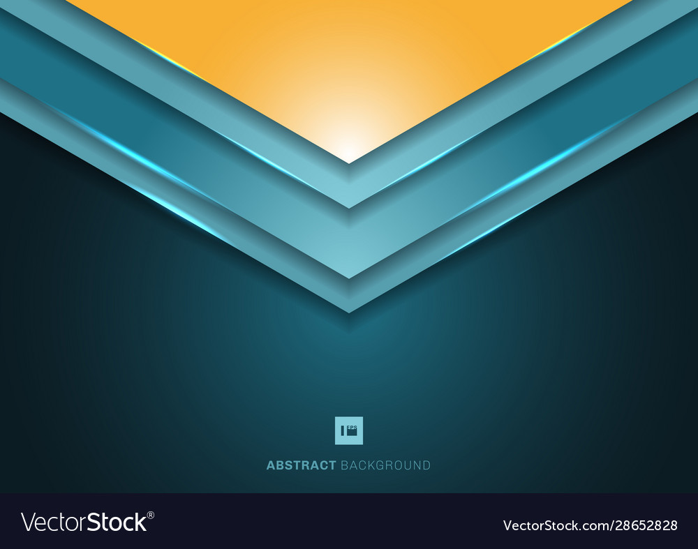 Abstract 3d blue angle arrow triangle shapes