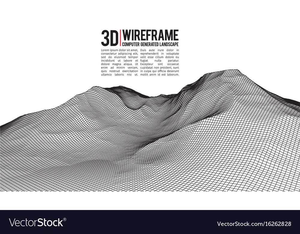 Abstract landscape background cyberspace