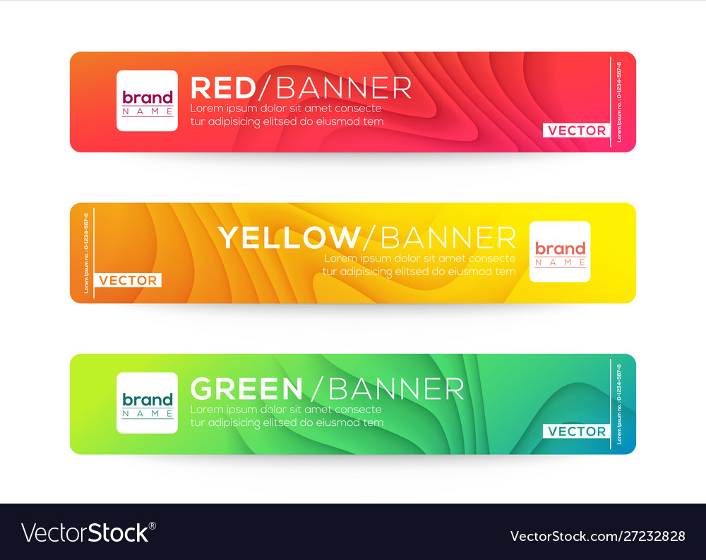 Abstract web banner or header design templates
