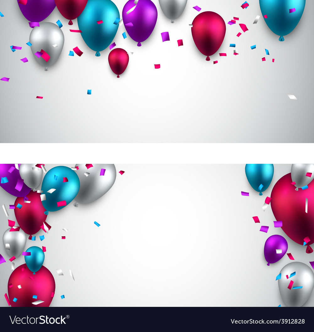 Celebrate banners with balloons